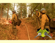 High Visibility leader wye valve-stay safe out there-photo courtesy of ©Kari Greer/ USFS