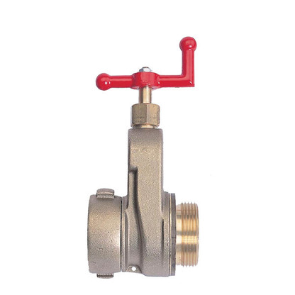 "Brass hydrant gate valve with 2 1/2"" inlet NST threads"