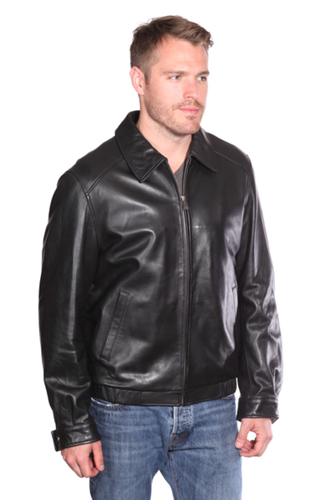 MEN CLASSIC LEATHER BOMBER JACKET - SUNSET LEATHER