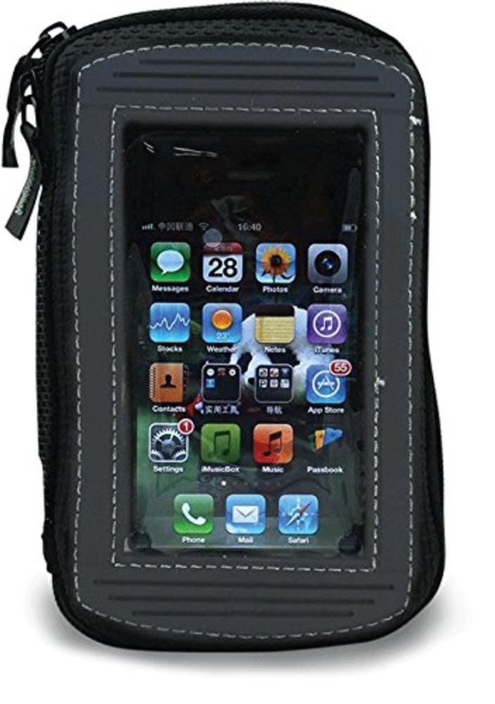 "Bikers Shield MP-105 Black 6"" x 1"" x 4"" Magnetic Tank Holder for Smartphones"