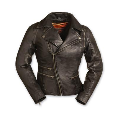 Women's Monte Carlo Black Leather Jacket FIL160NOCZ