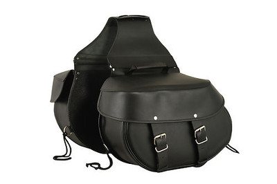 Leather Throw Over Large Saddle Bag Fits Most Cruiser Style Bike