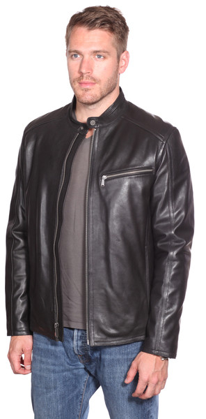 men classic leather soft leather jacket