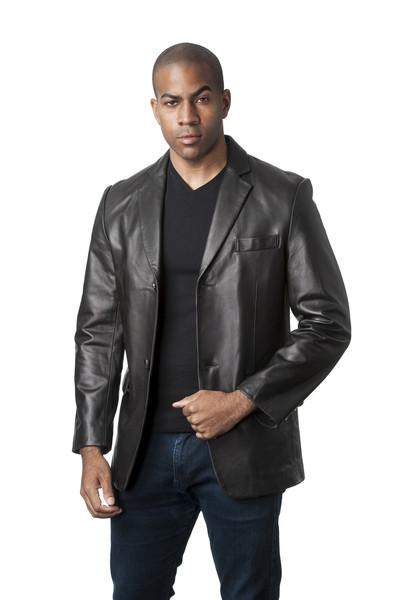 Men Lamb Leather Blazer