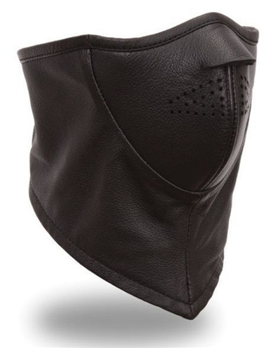 First Manufacturing Men's Leather Face Mask. FIFMSKGL