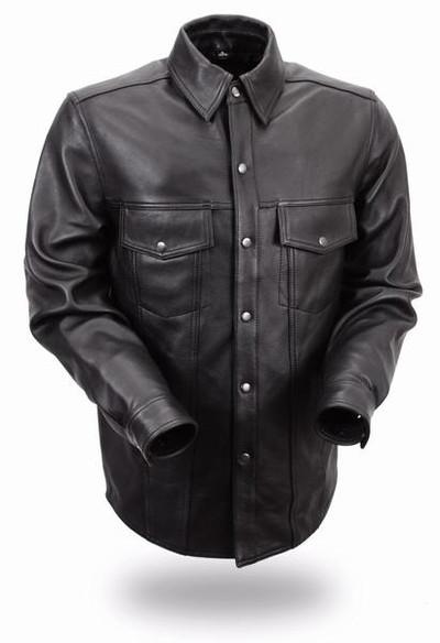Men's Lightweight Leather Shirt