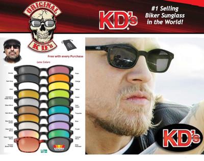 KD's Original Biker Riding Glasses Sunglasses