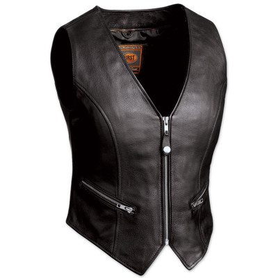 Womens Leather Motorcycle Montana Vest