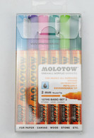 Molotow ONE4ALL 6 colors basic set 2mm