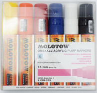 Molotow ONE4ALL 6 colors basic set 15mm