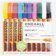 Molotow ONE4ALL 10 colors basic set 2mm refillable