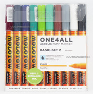 Molotow ONE4ALL 10 colors basic-2 set 2mm