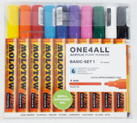 Molotow ONE4ALL 10 colors basic set 4mm refillable