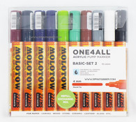 Molotow ONE4ALL 10 colors basic set-2 4mm refillable