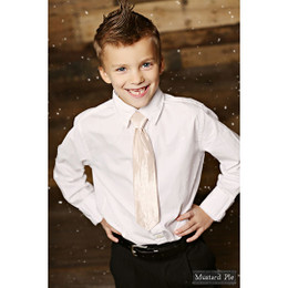 Mustard Pie Holiday Snow Angels Boys Neck Tie - Blush