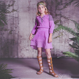 Jak & Peppar Grace Peasant Dress - Violet Haze Motif (D1)