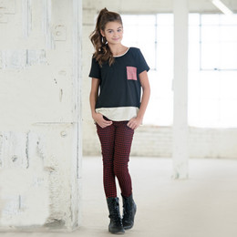 Persnickety Penny Lane Veronika Skinny Jean - Red (8Y-16Y)