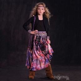 Jak & Peppar Woodstock 2N1 Maxi Skirt / Dress - Dazed Multi