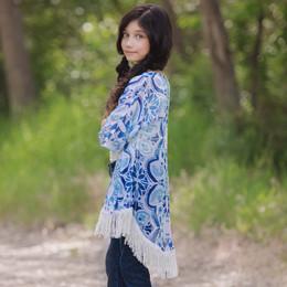 Persnickety Wonderstruck Sabrina Kimono - Blue
