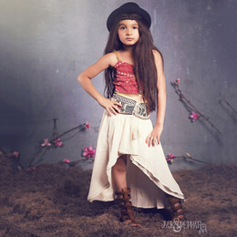 Jak & Peppar Sun Gypsy Avery Crop Top - Berry