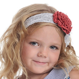 Persnickety Wild Flower Ora Headband - Red