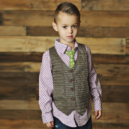 Mustard Pie Emerald Dance Boy's Vest - Sandalwood