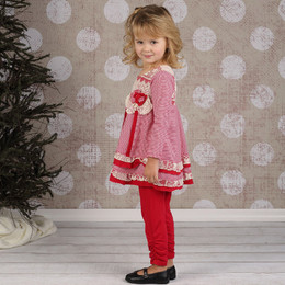 Isobella & Chloe Spiced Cider 2pc Pant Set - Red