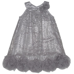 Pretty by Biscotti A-Line Sparkle Dress - Silver