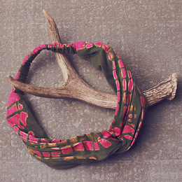 Jak & Peppar Gertrude Headwrap - Electric Pink Olive
