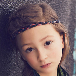 Jak & Peppar Hannah Braided Headband - Electric Pink Navy