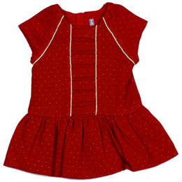 Mayoral Cap Sleeve Pique Dress - Red