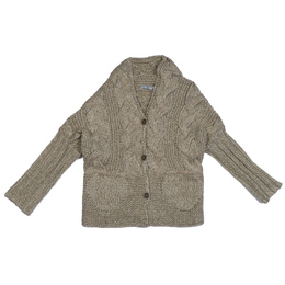 Mayoral Textured Knit Cardigan - Cinnamon