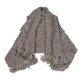 Mayoral Knit Asymmetric Fringed Vest - Sand