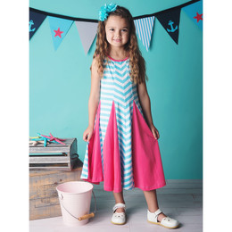 Lemon Loves Lime Sea Stripe Dress - Blue / White
