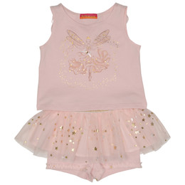Kate Mack Fairy Dance 2pc Top & Tutu Skort Set