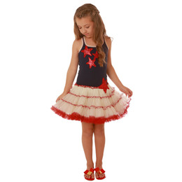 Ooh La La Couture Sequin Stars 4th Of July Dress - Red/White/Blue