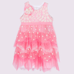 Isobella & Chloe Passion Fruit Tiered Dress - Coral