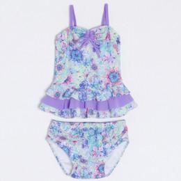 Isobella & Chloe Lana De Flores 2pc Tankini Swimsuit - Lilac