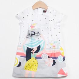 Catimini Floride 50's Pop Graphique Woven Shift Dress