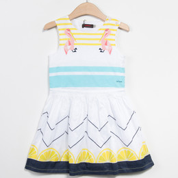 Catimini Floride 50's Pop Graphique Woven Dress