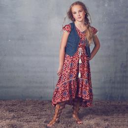 Jak & Peppar Starlight Wanderer Sienna Dress - Tangerine (Del 2)