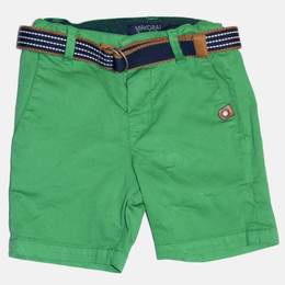 Mayoral Belted Pique Shorts - Arugula