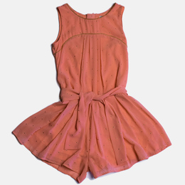 Mayoral Tacked Romper - Peach