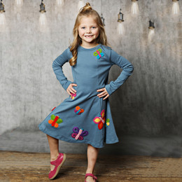 Lemon Loves Lime Dancing Wing Dress - Blue Stone