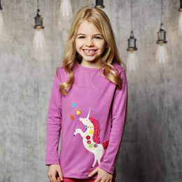 Lemon Loves Lime Magic Unicorn Tee - Radiant Orchid