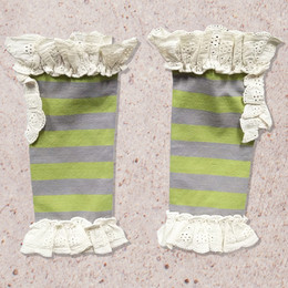 Mustard Pie Jeweled Forest Lola Socks - Olive