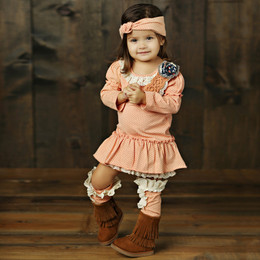 Mustard Pie Jeweled Forest Baby Cozette 2pc Set (*Now up to 4T!*)