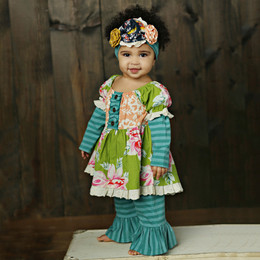 Mustard Pie Jeweled Forest Baby Lola 2pc Set (*Now up to 4T!*)