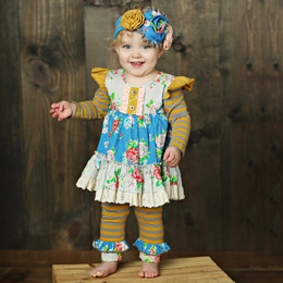 Mustard Pie Picnic Lunch Olive 2pc Set (*Now up to 4T!*)