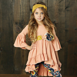 Mustard Pie Jeweled Forest Flutterby Top (*Belt Sold Separately*)